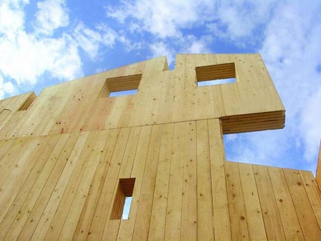 Две тысячи кубометров панелей издерева используют вЯкутии длявозведения домов дляпереселенцев