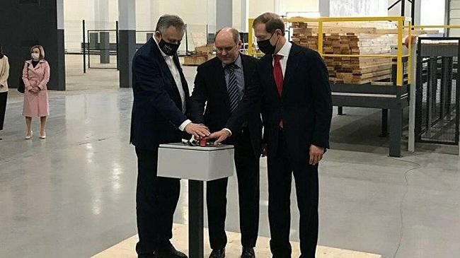 ВЛенобласти запустили первую очередь завода попроизводству CLT