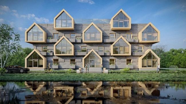 Молодые архитекторы представили эскизы домов изCLT-панелей