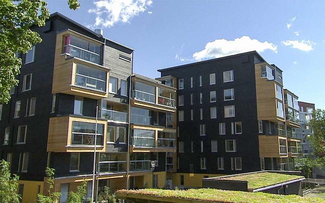 Многоэтажные дома издерева продаются вХельсинки на9% дороже, чемдругие здания